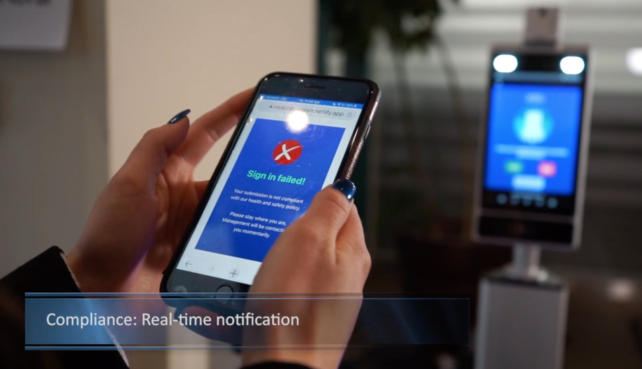 Real-time compliance notification